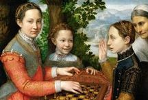 Sofonisba Anguissola / She was an Italian Renaissance painter born in Cremona. Anguissola traveled to Rome where she was introduced to Michelangelo, who immediately recognized her talent, and to Milan, where she painted the Duke of Alba, Elizabeth of Valois, the queen of Philip II of Spain, was a keen amateur painter, and Anguissola was recruited to go to Madrid as her tutor, with the rank of lady-in-waiting