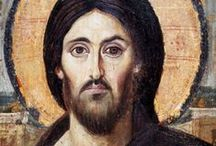 Byzantine icon / The word icon (from the Greek eikon, or image) signifies a holy image that provides a conduit from the worshipper to Christ, his mother Mary, or other saints