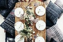 Casual Tablescapes / Simple and often impromptu. That's the kind of table we gather around.