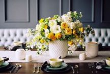 Yellow + Gold Tablescapes / Dazzling + full of cheer. That's the kind of table we gather around.