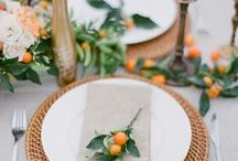 Orange + Red Tablescapes / Colorful, vibrant + loud. That's the kind of table we gather around.