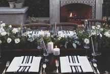 Dark + Dramatic Tablescapes / Bold, romantic + covered in candles. That's the kind of table we gather around.