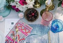 Bohemian Style / Mix n' match setting, feeding friends great food and loads of margaritas.