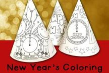 Holiday: New Years Eve / New Years Eve activities and printables for kids
