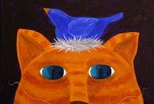 ORANGE AND BLUE / PLEASE PIN POLITELY, 5 to 6 OFF EACH BOARD AT A TIME..  THANX / by MAMACAT