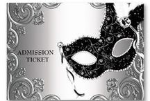 INVITATION TO A MASQUERADE BALL / PLEASE PIN POLITLEY, 5 TO 6 OFF EACH BOARD.  THANX / by MAMACAT