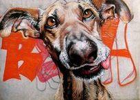 Straßenkunst / Streetart / #Streetart #Graffiti #Straßenkunst #Kunst #Tiere