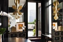 Le Noir / pieces in black lacquer, furniture pieces, black as accents