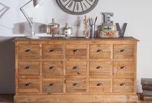 | CAMPAGNE | / Un intérieur qui sent bon la maison de famille, avec des meubles patinés, une ambiance chaleureuse et des tons tout doux... Voici le style campagne !