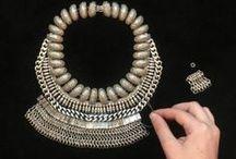 JEWELS // DIY / #jewelry #necklace #bracelet #earrings / by Heather Lou