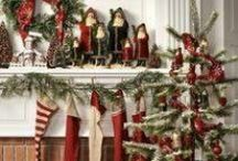 Feather Trees & Folk Art Santas / . / by Stormy Clay