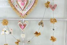 Bunting, Garland, Streamers, Rosettes and Wreathes / String it up, floating art between here and there