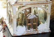 Christmas Apothecary Jars / Mini worlds in glass places, thrilling in minuscule detail