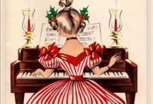 Vintage Christmas Cards Restored by me / Mi piace rinnovare cartoline d'epoca utilizzando il programma gratuito Photo Filtre. I like to restore old postcards with the free program Photo Filtre.