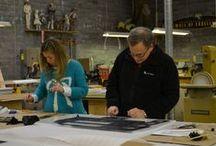 Inside Adler Display Studios / Behind the scenes at Adler Display Studios.