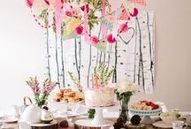 Tables + Parties / Table settings, table decorations, part ideas, party decorations