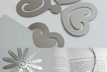 RossoCiliegia®Bookmark / Segnalibri in acciaio inossidabile prodotti 100% in Italia by RossoCiliegia®by Lasertech