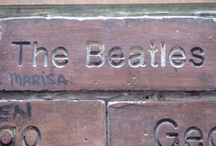 The Beatles on the Wall Of Fame in Mathew Street, Liverpool / The Wall Of Fame is in Mathew Street, Opposite the Cavern Club. It has the names of everyone who has played at the Cavern. The Beatles, of course, have pride of place - http://thebeatles-online.blogspot.com