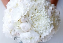 Inspiration: White & Cream / A collection of crisp white and cream wedding flowers by florists from around the globe including our work at Flowers By Helen Brown.