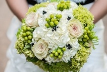 Inspiration: Green / A collection of luscious green wedding flowers by florists from around the globe including our work at Flowers By Helen Brown.