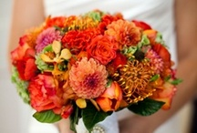Inspiration: Orange / A collection of orange wedding flowers by florists from around the globe including our work at Flowers By Helen Brown.