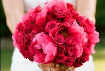 Inspiration: Pinks & Peaches / A collection of pink and peach wedding flowers by florists from around the globe including our work at Flowers By Helen Brown.