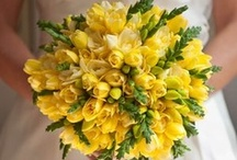 Inspiration: Yellow / A collection of yellow wedding flowers by florists from around the globe including our work at Flowers By Helen Brown.