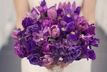 Inspiration: Purple / A collection of purple wedding flowers by florists from around the globe including our work at Flowers By Helen Brown.