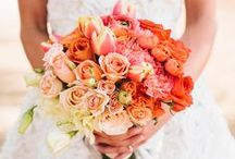 """Trend: Ombre Wedding / Ombre— n. A French term meaning """"shaded."""" Usually a multicoloured stripe, with colors graduating from light to dark.  Below, a collection of beautiful ombre themed weddings and wedding flower photos we love; designed by florists from around the globe and some of our work at Flowers By Helen Brown."""