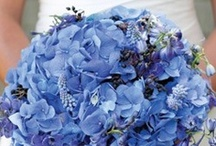 Inspiration: Blue / A collection of blue wedding flowers by florists from around the globe including our work at Flowers By Helen Brown.