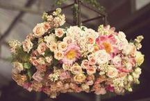 Trend: Floral Chandeliers / Floral Chandelier—n. a large, decorative hanging light with branches adorned with flowers. Below, a collection of beautiful floral chandeliers; designed by florists from around the globe and some of our work at Flowers By Helen Brown.