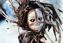 Tribal decoration from Africa / Painted faces