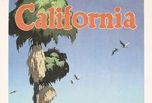California Posters / Original vintage travel and tourism posters from California