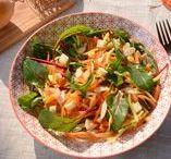 Recettes de Saison : Printemps / Seasonnal Recipes : Spring / Recettes cuisine de printemps, à base des produits de saison : asperges, fèves, carottes, blettes, fraises et premiers fruits rouges