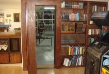 Hidden Doors / Hidden door bookcases add intrigue and function to your home. Find the hardware or whole package at http://www.cshardware.com/hidden-door/invisidoor.html