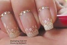 Wedding Nails/hair / nails/hair