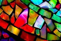 Stunning Stained Glass / The window to the world thru rose coloured glasses!