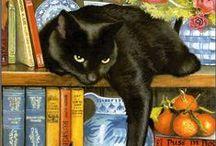 Katz on Canvas / Feline art at it's finest!