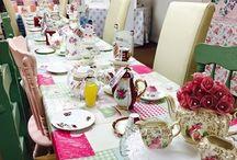 Vintage Crafternoon tea parties.