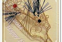 ワイヤークラフト / ワイヤーを使って小物を作るフラワーアレンジなどとコラボレーション