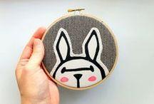 embroidery, crochet, weaving
