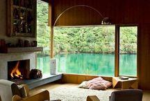 H O L I D A Y // H O M E S / Mountain house; beach house, lakeside home...