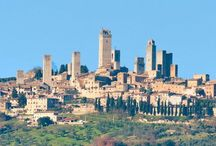 San Gimignano / I bought shoes and leather brief case here
