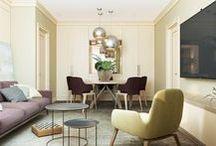 GORGEOUS FRENCH INTERIOR / Дизайн интерьера квартиры в французском стиле. Элегантная цветовая гамма, мебель из натуральных материалов, изысканный декор и мягкие линии... Особую романтичность интерьеру придали обои с цветочным рисунком.