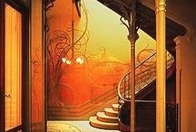 Art Nouveau furnitures etc,