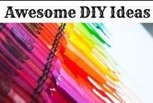 Awesome DIY Ideas / Creative DIY ideas for the home, organization, to sell etc.Awesome DIY life hacks we love.  Easy DIY ideas for bedroom, kitchen, kids, and more.