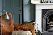 Fireside / Ideas for beautiful fireplaces as the weather gets chilly.