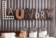Laundry Room Fun! / Cute and pretty ideas for updating a laundry room!