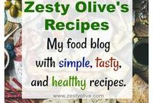 Zesty Olive Recipes / Recipes from Zesty Olive food blog. Simple, tasty, healthy recipes. You'll find gluten-free, smoothies, casseroles, grilling, chocolate, desserts, eggs, salads, cookies, soups, veggies, okra, fruit, blueberries, pears, fajitas and more!