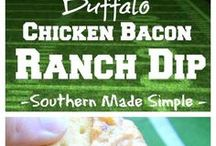 Ranch Dip Recipes / Easy Ranch Dip Recipe Ideas - Bacon Ranch Dip, Homemade ranch dip, jalapeno ranch dip, fiesta ranch dip and many more great ranch dips for veggies and for chips.